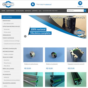 Loja Virtual CNC Parts